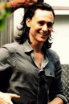 Tom with his Loki hair - Be still my bleeding heart, holy wow. the smile.
