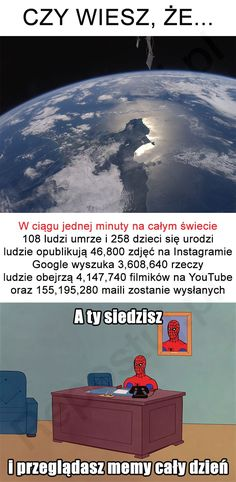 Repostuj.pl - 5 | Czy wiesz, że... Funny Images, Funny Pictures, Polish Memes, Everything And Nothing, Wtf Funny, Best Memes, Nice View, Humor, Anime Meme