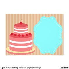 Open House Bakery business 13 Cm X 18 Cm Invitation Card