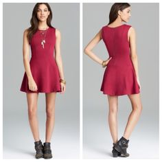 Free People Cha Cha minidress NWT Free People Cha Cha minidress in magenta. Sold out everywhere. Measures approximately 15 inches across chest, 13.5 inches across waist, and 32.5 inches in length. Stretchy material. Brand new with tags. No trades. No PayPal. Price firm. No additional bundle discounts. Free People Dresses