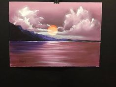 beginners sundowner acrylic - YouTube