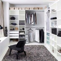 Walk in wardrobe inspiration dressing room in 2019 wardrobe room, closet be Wardrobe Room, Closet Bedroom, Home Bedroom, Master Closet, Closet Space, Closet Office, Master Bedroom, Ikea Walk In Wardrobe, Man Closet