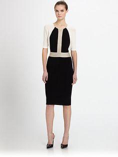 Giambattista Valli - Metallic Inset Dress - Saks.com