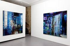 """Olivier Masmonteil, Installation View: """"Chapitre II: Le Plaisir de Peindre"""" at Galerie Dukan Hourdequin, Paris,France, 2012 Photos: Aurélien Mole"""