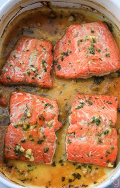 Oven Baked Honey Dijon Salmon Recipe. A flavorful, fast and easy dinner! via…
