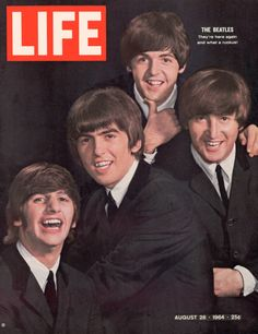 The Beatles, Ringo Starr, George Harrison, Paul Mccartney and John Lennon, August 1964 Cover of Life Magazine Ringo Starr, George Harrison, Paul Mccartney, John Lennon, Life Magazine, Magazine Rack, Pop Rock, Rock And Roll, Stuart Sutcliffe