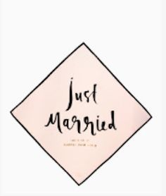 Dress the venue up with Just Married cocktail napkins