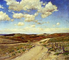 Shinnecock Hills 04 - William Merritt Chase.  Love the clouds in this painting and open space