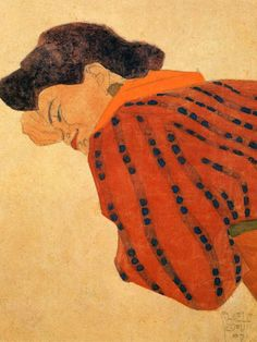 Egon Schiele | Reclining Woman with Red Blouse | 1908