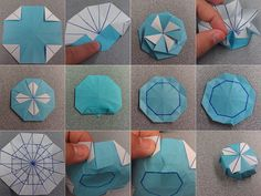Made this tutorial, hope the pinners might try it!    Origami Maltese Cross Box, by Christiance Bettens, tutorial by Carson Box (CBFolds)