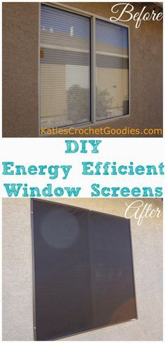 DIY Energy Efficient Window Screens —- www.katiescrochet… DIY Energy Efficient Window Screens —- www.