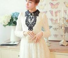 Vintage Style Beaded Lace Dress