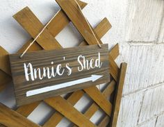 Personalised shed sign - Wooden sign - Arrow Sign - Direction Sign - Garden Sign - Door sign - Garage - Cabin - Hut - Barn - Farm - Cottage