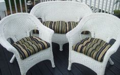 Indoor / Outdoor Wicker Cushion 3 Pc. Set By PillowsCushionsOhMy, $99.96
