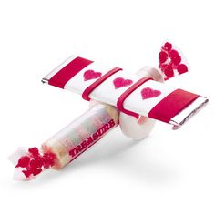 candy airplane for valentines