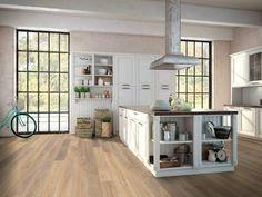 Holzboden: Ambiente Eiche, classic, gehobelt, kaschmirgrau, geölt. (von Hain Parkett)