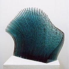 blue wave glass sculpture by niyoko ikuta. Art Of Glass, Stained Glass Art, Fused Glass, Glass Design, Colored Glass, Sculpture Art, Contemporary Art, Art Pieces, Antony Gormley