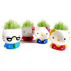 7727462c3 Hello Kitty planter family - awesome! Hello Kitty Items, Hello Kitty House,  Sanrio