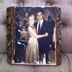 "Photo transferred onto wood for my boyfriends valentines gift. He loves rustic things. Thanks Pinterest! (you can find the tutorial on my ""gift ideas"" board"