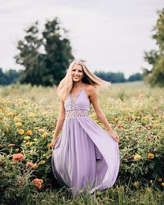 Oh ya know, just another typical day twirling around a flower field in a long pretty dress.