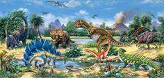The Dinosaurs via MuralsYourWay.com