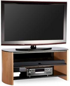 e7bdc36c39cd Alphason Finewood Light Oak TV Unit - FW1100 Modern Wall Units, Light Oak,  Media. Choice Furniture Superstore