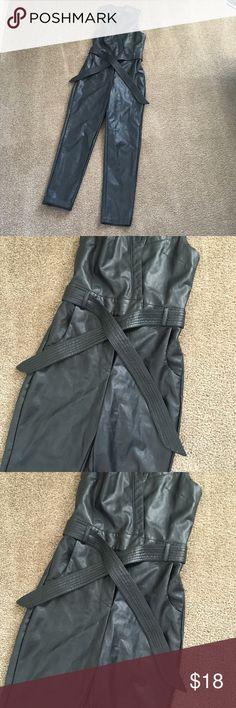 Nasty Gal Faux leather jumpsuit Worn once. Size xs Nasty Gal Other