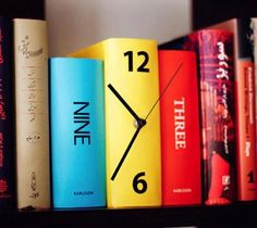 I think this would look great somewhere in this house--Book Clock - I bought this at Burke's Outlet. Can't wait to see it on a bookshelf.