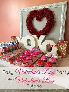 Aprons and Stilletos: Easy Valentine's Day Party and Valentine's Box Tutorial
