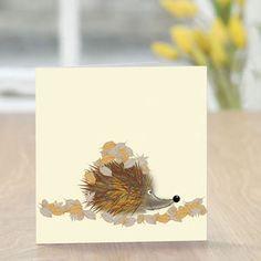 Hedgehog And Leaves