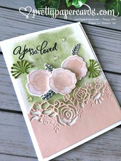 Stampin' Up! Forever Lovely Bundle - prettypapercards - stampinup Stampin' Up! Valentine Day Love, Valentine Day Cards, Handmade Greetings, Greeting Cards Handmade, Stampinup, Beautiful Handmade Cards, Mothers Day Cards, Heart Cards, Paper Cards