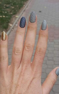cable knit nails #5
