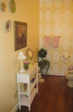 The MKDaly Show #bathroom #yellow #frenchcountry