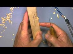 Carving a simple woodspirit - part2 - YouTube