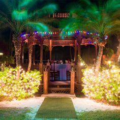 Romantic candlelight dinner at the garden gazebo in #GrandPineappleAntigua