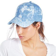 Printed Baseball Cap  - Blue Tie Dye-one size