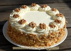 Have you ever tried an Italian Cream Cake before? It's a coconut and walnut cake (many people opt for pecans instead) with a cream ch. Italian Cream Cakes, Italian Cake, Italian Desserts, Sweet Desserts, Italian Dishes, Sweets Recipes, Cupcake Recipes, Cupcake Cakes, Peanut Butter Filled Cupcakes