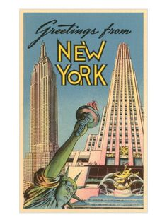 One of my favorite NYC postcards