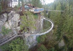 CliffWalk Capilano Vancouver It has parts of it that are made out of Plexiglass so you can see down into the ravine below...scared me more than the suspension bridge!