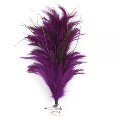 Elegant Purple Chicken Feather Style Hair Clip Brooch Pin