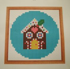 cupcake cutie: FREE Gingerbread House cross stitch or hama bead ...