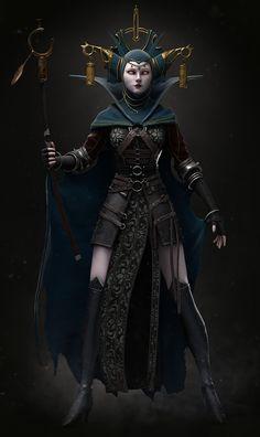 The Witch, Elisa Moraes on ArtStation at https://www.artstation.com/artwork/BLmE6