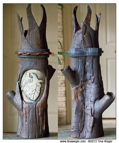"""I made this sculpture/candle pedestal for the El Corazon show at The Bath house Gallery in 2014.  It's three different clays, oxides, high fire glazes, and 21"""" tall.  It's currently on display in a Dallas library."""