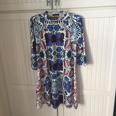 Floral Patterned Swing Dress Romwe Swing dress- fits super nice, very flowy, true to size! / 95% Polyester 5% Spandex / feel free to ask questions or make an offer!  ROMWE Dresses Mini
