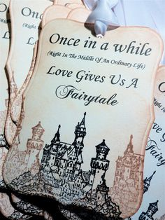 Fairytale Love Tags Favor Tags Wedding Wish Tree by ifiwerecards