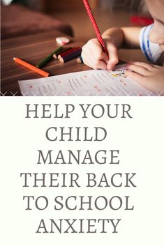 Ways to reduce back to school anxiety for your child is in the preparation. Create fun, joyful images of being in school will relax your child. Conscious Parenting, Mindful Parenting, Gentle Parenting, Parenting Advice, What Is Anxiety Disorder, Separation Anxiety Disorder, School Stress, What Is Fear