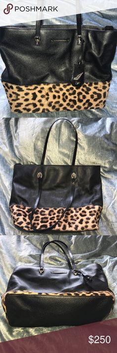 Diane von Furstenberg Tote Sutra Ready To Go Leopard Haircalf Tote. Very lightly worn. Diane Von Furstenberg Bags