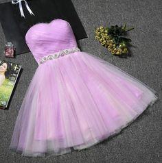2017 Homecoming Dress Sexy A-line Strapless Short Prom Dress Party Dress JK029