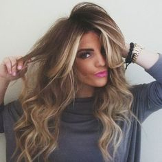 Hair with balayage highlights