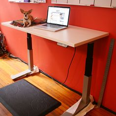 Haworth Planes Height-Adjustable Table. These are the desks that I chose for our new IT workspace.